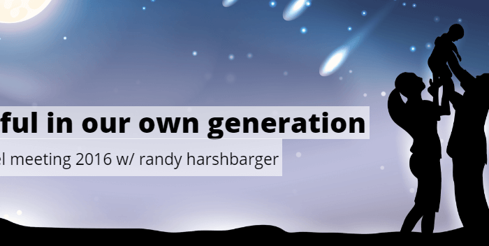 Faithful in Our Own Generation | Fall Gospel Meeting 2016 with Randy Harshbarger | Seminole Pointe church of Christ